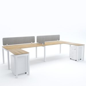BELLA Workstation Cluster of 2 In-Line C-Shape