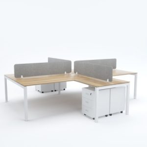 BELLA Workstation Cluster of 4 Face-to-Face Cross-Shape