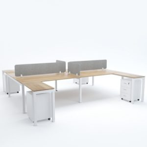 BELLA Workstation Cluster of 4 Face-to-Face H-Shape
