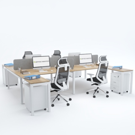 BELLA Workstation Cluster of 4 Face-to-Face H-Shape