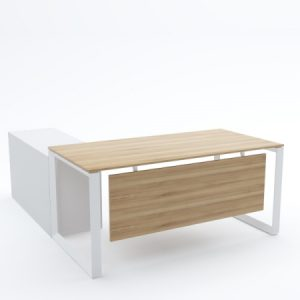 DIAMOND Desk Rectangular with Side Cabinet
