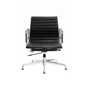 EAMES Low Back Bush Base Leather Chair