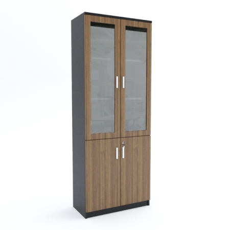 Full Height Cabinet (bottom wood top glass)