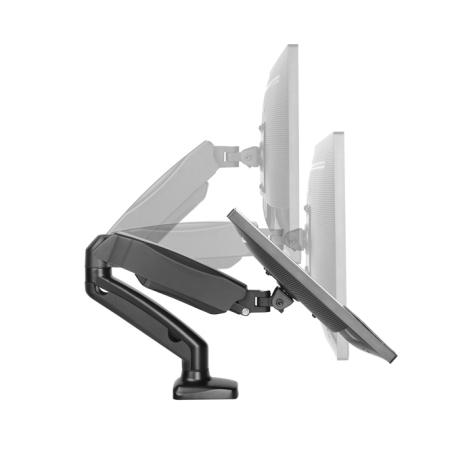 Interactive Counterbalance Dual Flat Screen Desk Mount
