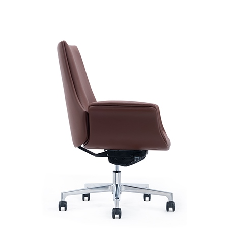 LUCIAN Low Back Leather Chair