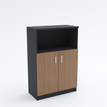 Mid Height Cabinet (swing door with top open shelf)
