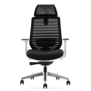 SPARTA White Frame Mesh Ergonomic Chair