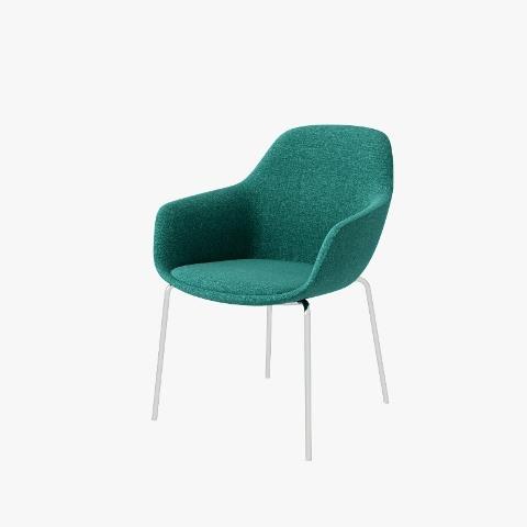 SYS High Armrest Chrome-Base Leisure Chair