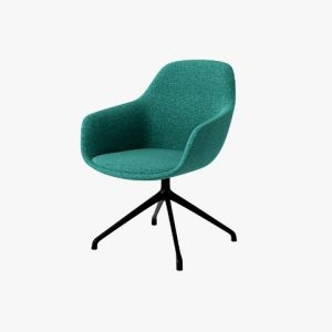 SYS High Armrest Steel-Base Leisure Chair