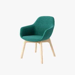 SYS High Armrest Wooden-Base Leisure Chair