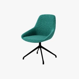 SYS Low Armrest Steel-Base Leisure Chair