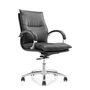 ZAZA Low Back Leather Chair