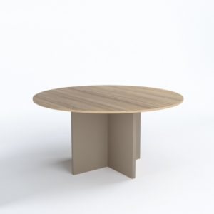 DISCUSSION Round Table (Wood Base)