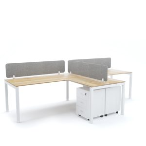 BELLA Workstation Cluster of 2 In-Line T-Shape