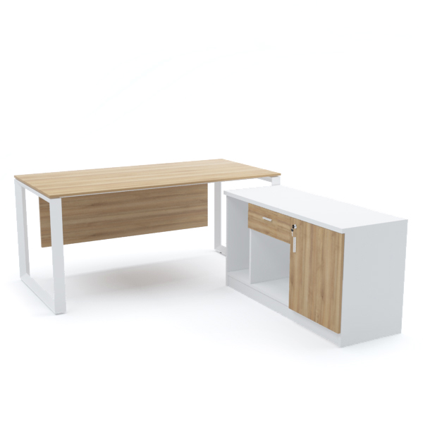 DIAMOND Office Desk with Side Cabinet