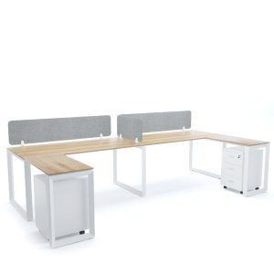 DIAMOND Workstation Cluster of 2 In-Line C-Shape