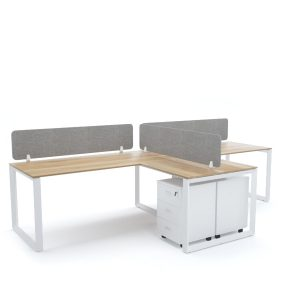 DIAMOND Workstation Cluster of 2 In-Line T-Shape