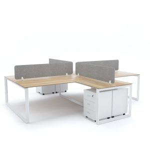 DIAMOND Workstation Cluster of 4 Face-to-Face Cross-Shape