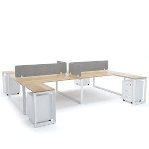 DIAMOND Workstation Cluster of 4 Face-to-Face H-Shape