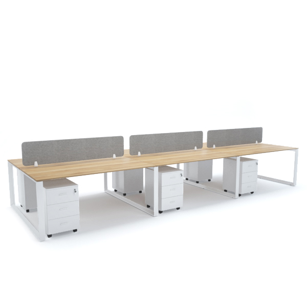 DIAMOND Workstation Cluster of 6 Face-to-Face