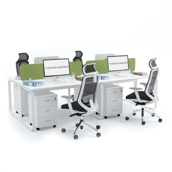 EKKO Workstation Cluster of 4 Face-to-Face