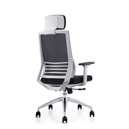 RADIAN White Frame Mesh Ergonomic Chair