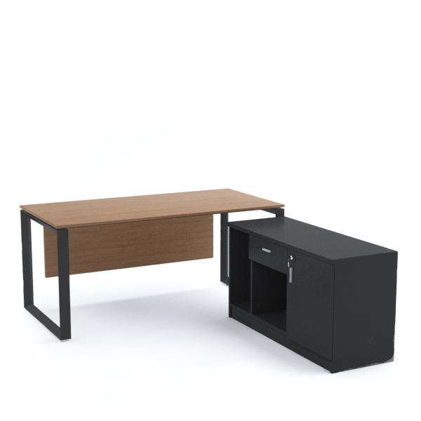 SCHON Office Desk with Side Cabinet