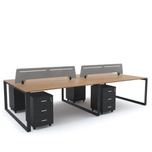 SCHON Workstation Cluster of 4 Face-to-Face