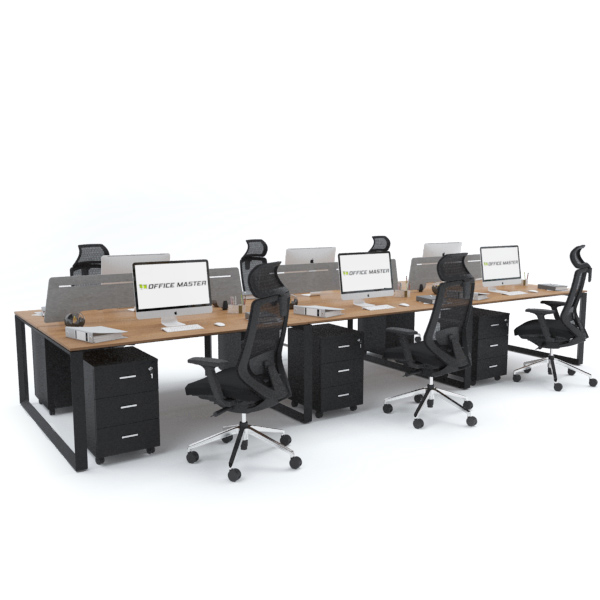 SCHON Workstation Cluster of 6 Face-to-Face