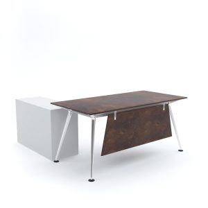 ELEGANTE Office Desk with Side Cabinet