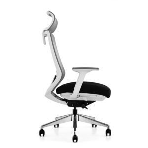 OfficeMaster Sparta White Frame High Back Ergonomic Chair