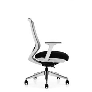 OfficeMaster Sparta White Frame Mid Back Ergonomic Chair (1)